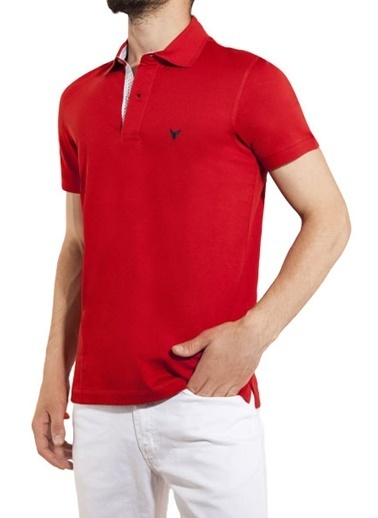 Comienzo Polo Yaka Tişört Kırmızı
